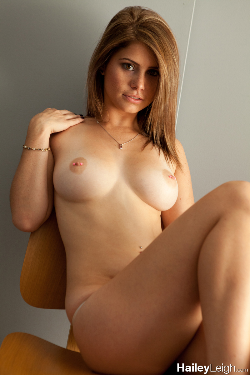 Girl in chair sitting hot
