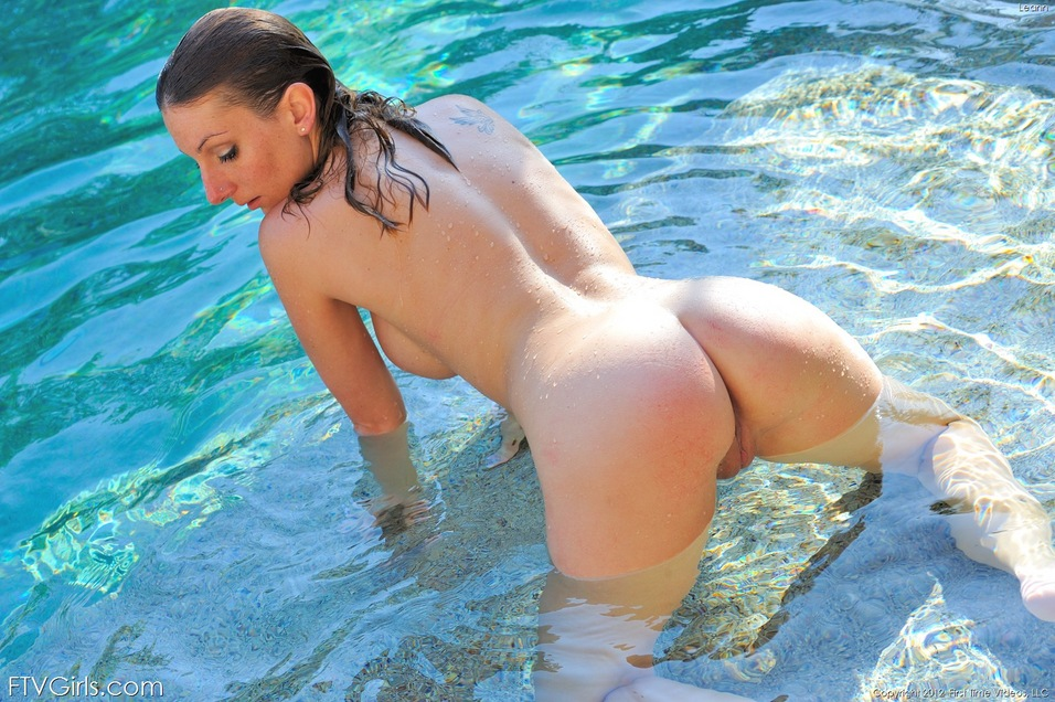 Hot naked white girls swimming very
